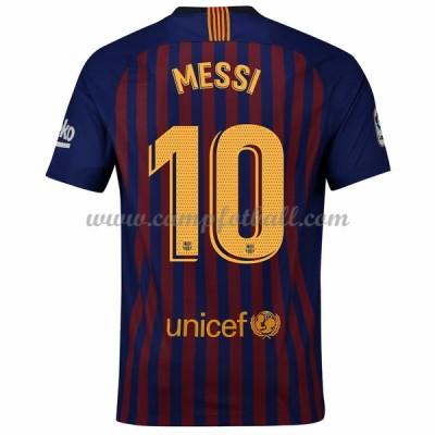 Barcelona Fotballdrakter 2018-19 Lionel Messi 10 Hjemmedrakt
