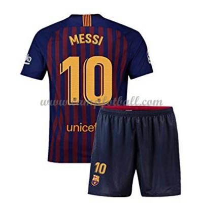 Fotballdrakter Barn Barcelona 2018-19 Lionel Messi 10 Hjemme Draktsett