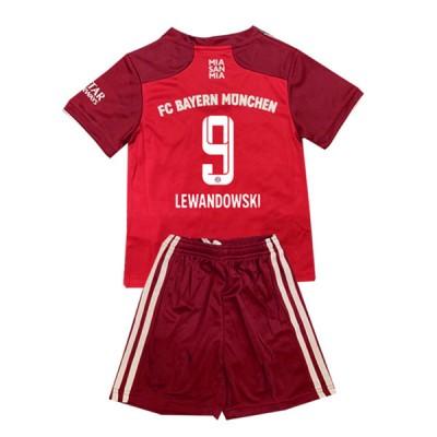 Fotballdrakter Barn Bayern München 2017-18 Robert Lewandowski 9 Hjemme Draktsett