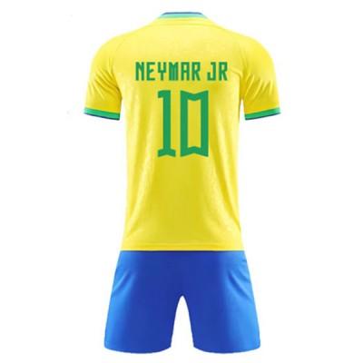 93cb3f21 Fotballdrakter Barn Brasil VM 2018 Neymar JR 10 Hjemme Draktsett