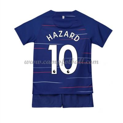 Fotballdrakter Barn Chelsea 2018-19 Eden Hazard 10 Hjemme Draktsett