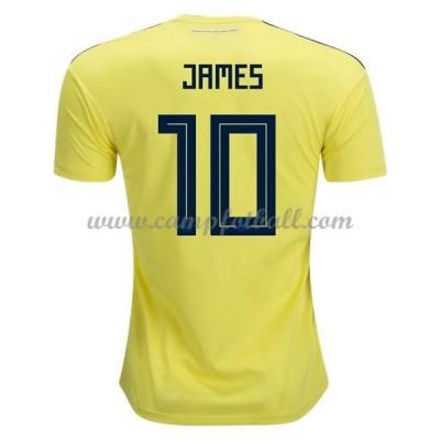 Billige Fotballdrakter Colombia VM 2018 James Rodriguez 10 Hjemme Draktsett