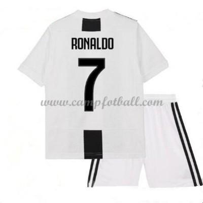 Fotballdrakter Barn Juventus 2018-19 Cristiano Ronaldo 7 Hjemme Draktsett