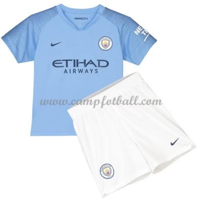 Fotballdrakter Barn Manchester City 2018-19 Hjemme Draktsett