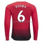 0cf132fa Manchester United Fotballdrakter 2018-19 Paul Pogba 6 Hjemmedrakt Langermet.