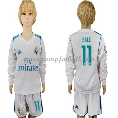 Fotballdrakter Barn Real Madrid 2017-18 Gareth Bale 11 Hjemme Draktsett Langermet