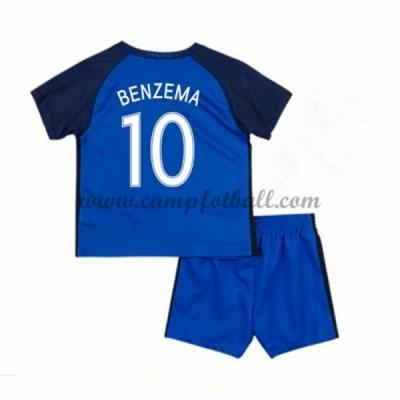 Fotballdrakter Barn Frankrike EM 2016 Karim Benzema 10 Hjemme Draktsett