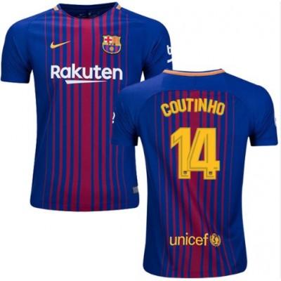 Barcelona Fotballdrakter 2017-18 Philippe Coutinho 14 Hjemmedrakt
