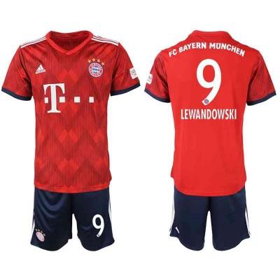 Fotballdrakter Barn Bayern Munich 2018-19 Robert Lewandowski 9 Hjemme Draktsett